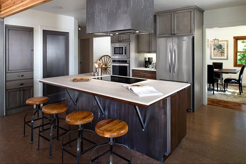 Dekton Countertop in kitchen by countertopwebsites.com