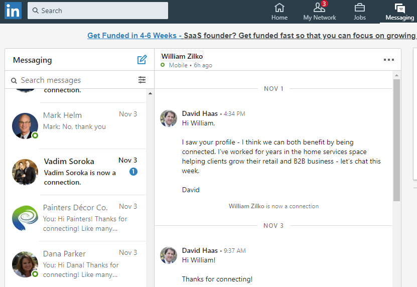 linkedin interactions