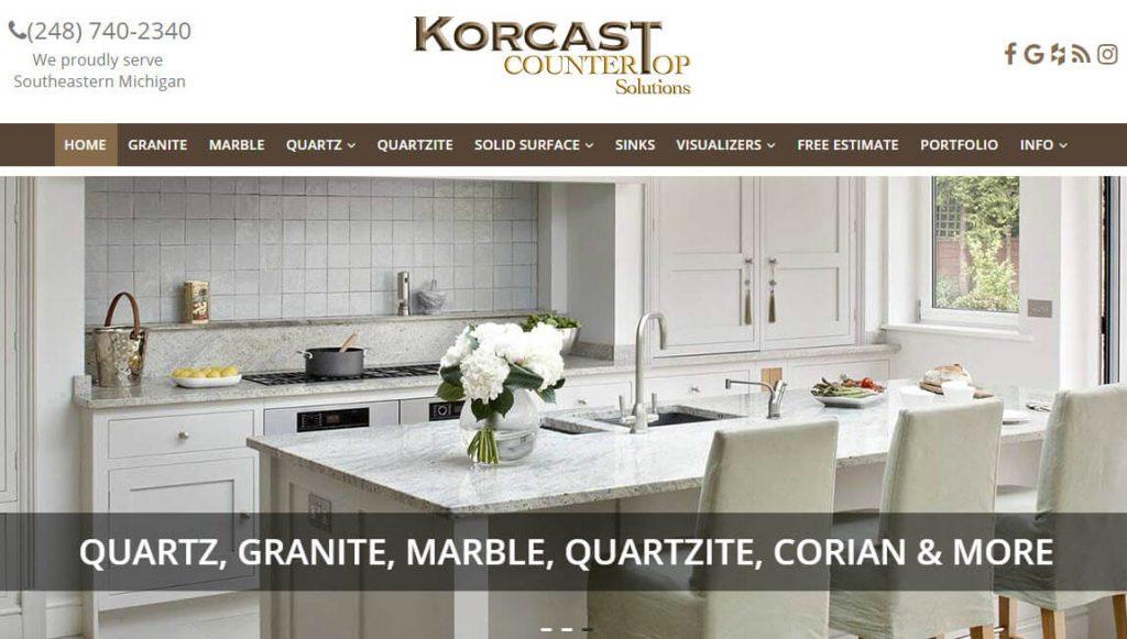 Korcast - custom countertops troy michigan